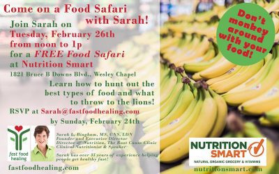 Join me for a FOOD SAFARI!  It's FREE!